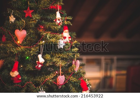 Christmas tree and Christmas decorations #216453922