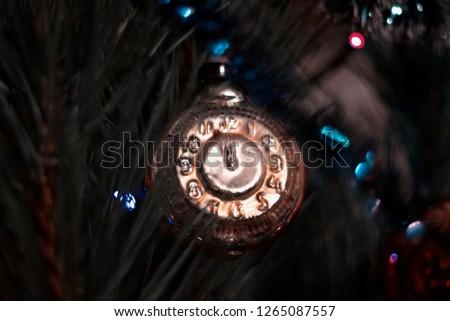 Christmas tree and garland  #1265087557