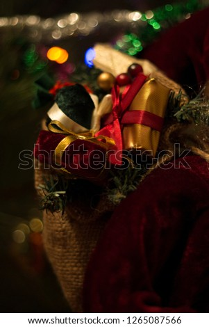 Christmas tree and garland  #1265087566