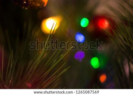 Christmas tree and garland  #1265087569