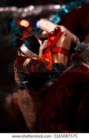 Christmas tree and garland  #1265087575