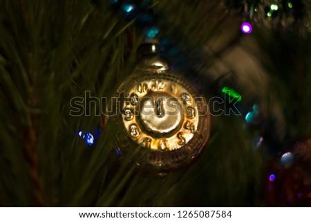 Christmas tree and garland  #1265087584