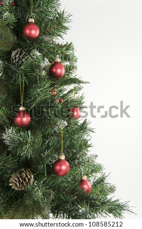 Christmas Tree and Red Decorations