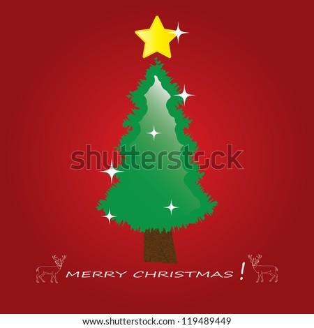 Christmas tree applique background.