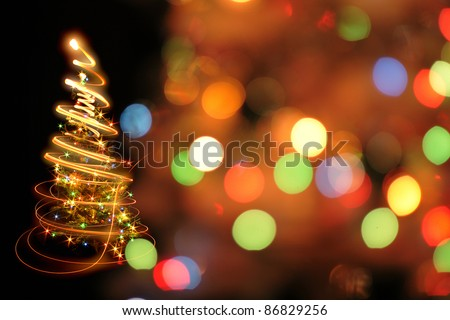 christmas tree as nice game with color lights
