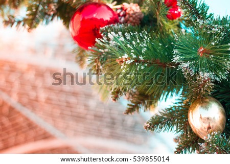 Christmas tree background. Family holiday. Texture
