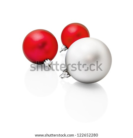 Christmas tree balls isolated on white background
