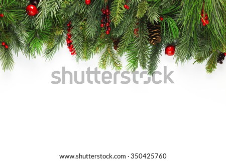 Christmas tree branches background #350425760
