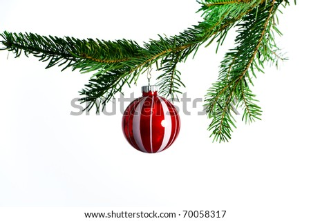 christmas tree bubble - stock photo