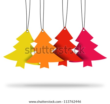 christmas tree ,christmas card ,tags