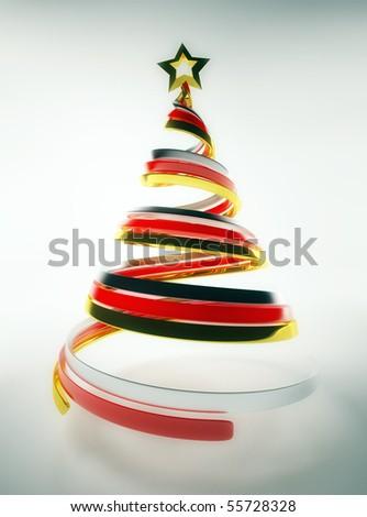 Christmas tree concept - stock photo