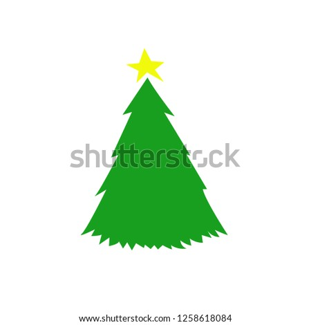 Christmas tree. Cool pictogram. Happy New year! #1258618084