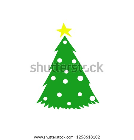 Christmas tree. Cool pictogram. Happy New year! #1258618102