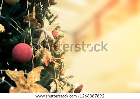 christmas tree decorate festive background