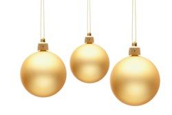 Christmas-tree decoration balls isolated on white