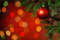 Christmas Tree Decoration Christmas tree lit background