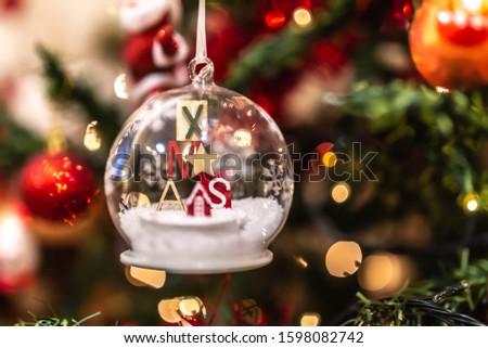 Christmas tree decoration cristal decoration