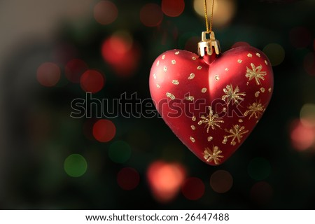 Christmas-tree decoration in form of heart