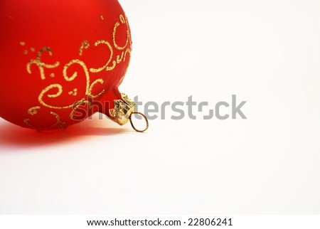 christmas tree decoration on  white sheet of paper