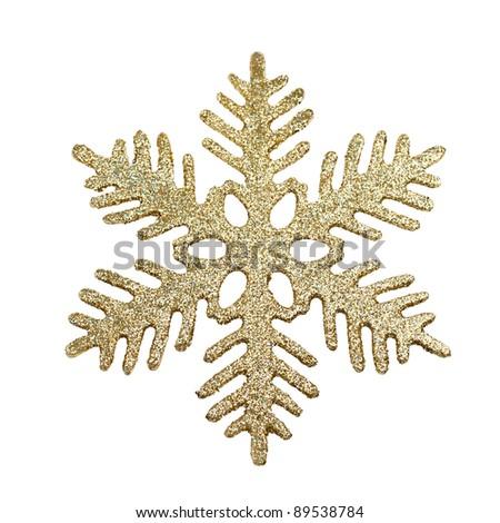 Christmas tree decoration snowflake isolated on white background