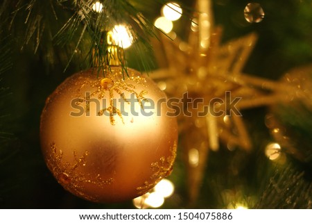 Christmas tree decoration, space decoration.