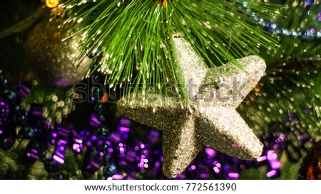 Christmas tree decorations #772561390
