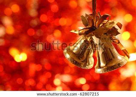 Christmas-tree decorations against light background
