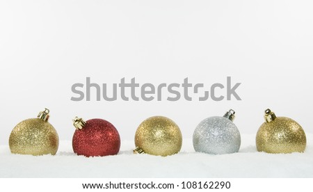 Christmas Tree Decorations and Snow