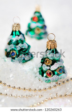 Christmas tree decorations , background for holidays card and cover