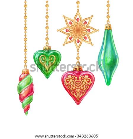 Christmas Tree Hanging Ornaments, Design Elements ...