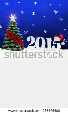 christmas tree happy new year 2015