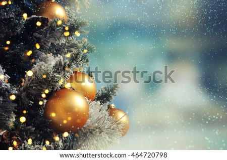 Christmas tree. Holiday background.