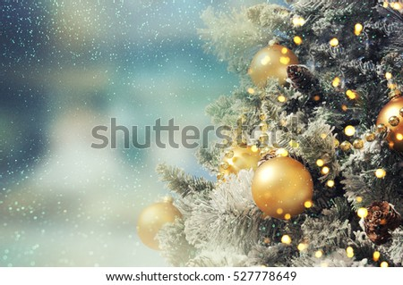 Christmas tree. Holiday background. #527778649