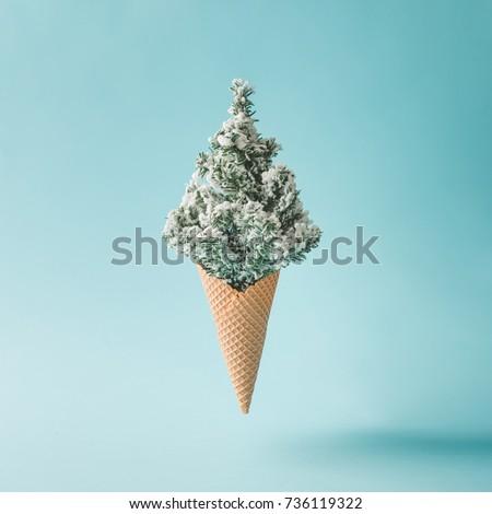 christmas tree ice cream....