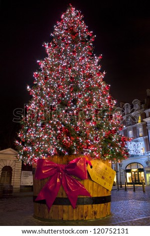 Christmas Tree in London's Covent Garden.