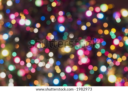 Christmas tree lights blurred background