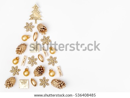 christmas tree made from golden ...