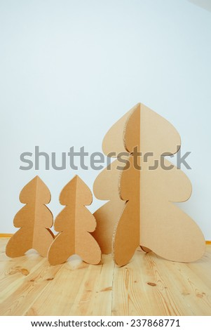Christmas Tree Made Of Cardboard. Unique Trees. New Year #237868771