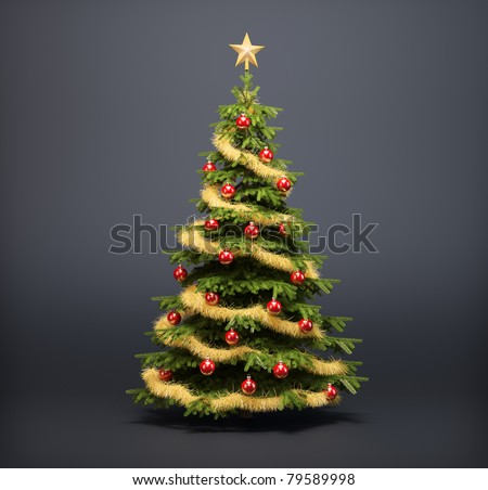 Christmas tree on a dark background