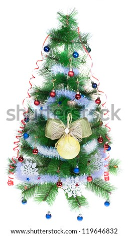 Christmas tree on a white background, isolated