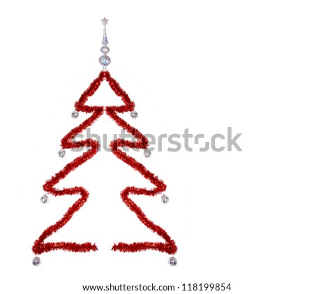 Christmas tree on white background , clipping path