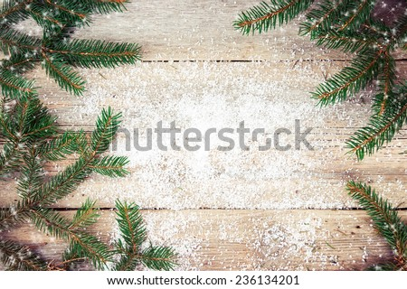 Christmas tree on wooden background #236134201