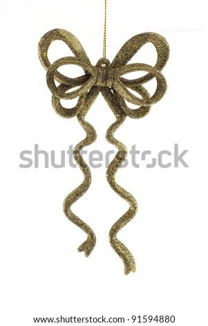 Christmas tree ornament bow