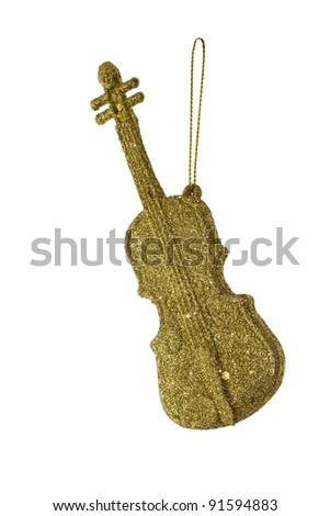 Christmas tree ornament violin