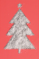 Christmas Tree Paper Shape With Fake Snow