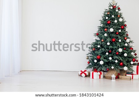 Christmas tree pine decor presents new year home winter intrerier