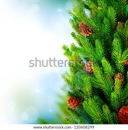 Cool Christmas Tree Pine Tree Or Fir Tree With Cones Closeup Art Easy Diy Christmas Decorations Tissureus
