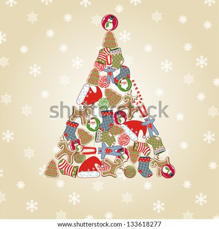 Christmas tree. Raster version, vector file available in portfolio.