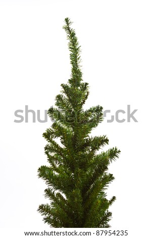 Christmas tree ready to decorate  isolated on white background