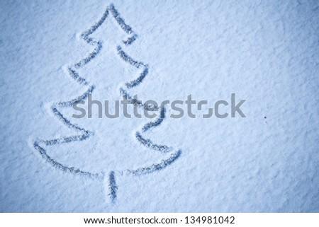 Christmas tree snow image